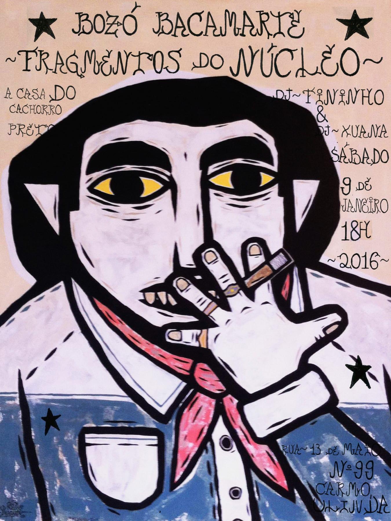 bozo cartaz face - Nova exposição de Bozó Bacamarte