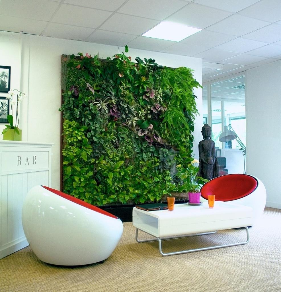 Jardim.Vertical.Sala  - Como montar jardins em pequenos espaços