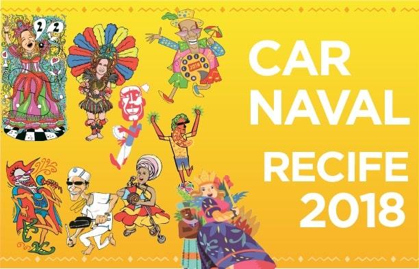 carnaval do Recife 2018 - Decoração de Carnaval leva o cartum às ruas do Recife