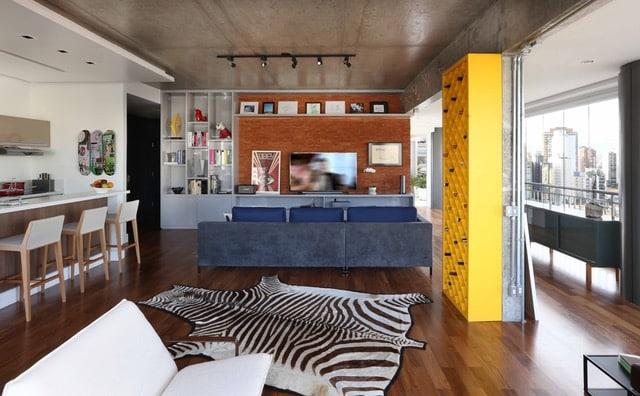 apartamento viviane gobbato5 - Apartamento em SP traz mistura jovem e urbana