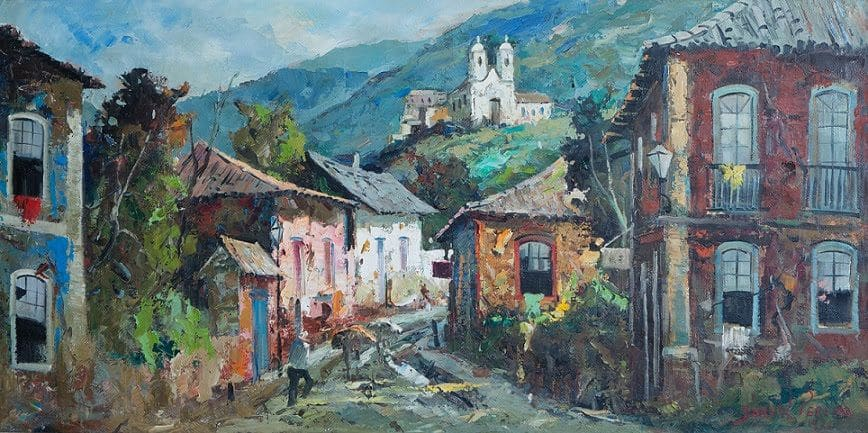 Casario de Durval Pereira Óleo sobre tela 1971 - Exposição irá exibir um panorama da obra de Durval Pereira