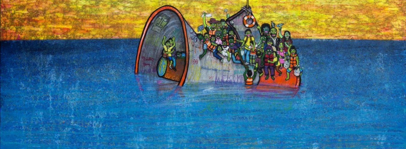 somos do planeta terra 2018 de mundano 42438113585 o 1346x494 - Vozes Mundanas, a exposição inédita do artista Mundano