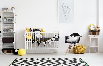 quarto bebe estilo escandinavo shutterstock 391452901 Photographee.eu  440x281 - Tendência Escandinava em quartos de bebê