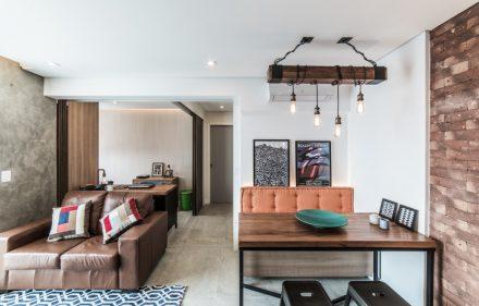 Apto Morumbi Pietro Terlizzi 13 440x281 - Apartamento pequeno traz estilo rústico  sem abrir mão do conforto