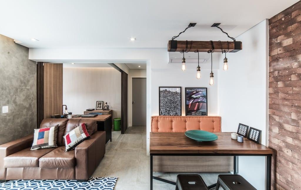 Apto Morumbi Pietro Terlizzi 13 - Apartamento pequeno traz estilo rústico sem abrir mão do conforto