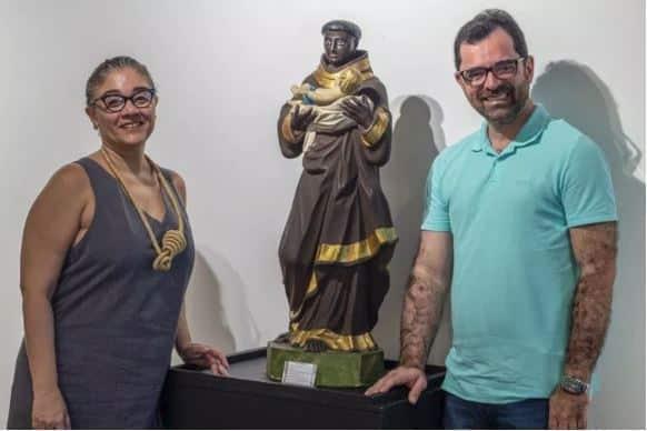DIÓ DINIZ E PADRE RINALDO FOTO FELIPE BEZERRA REVISTA SIM - Curadoria franco-alemã realiza residência sobre Paulo Bruscky