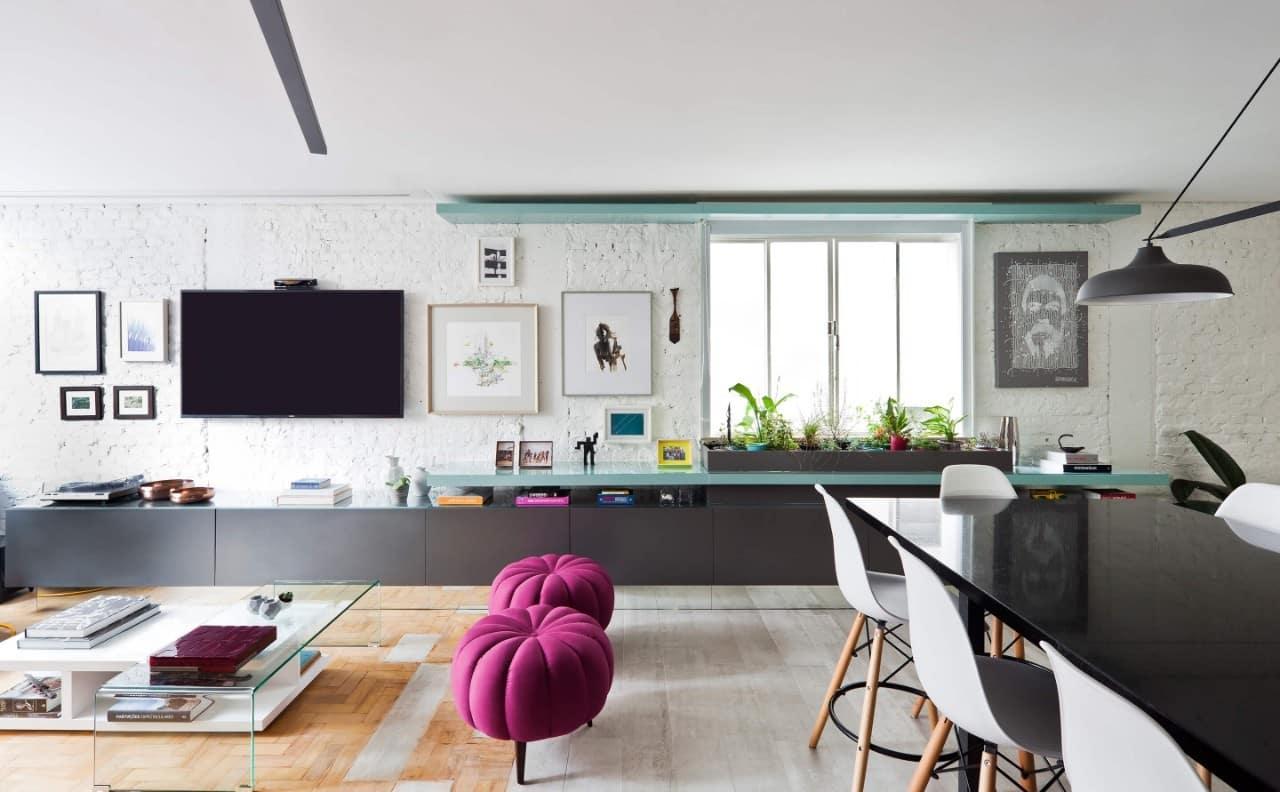 int goma 7ok - Projeto de apartamento pequeno, faz uso da integração