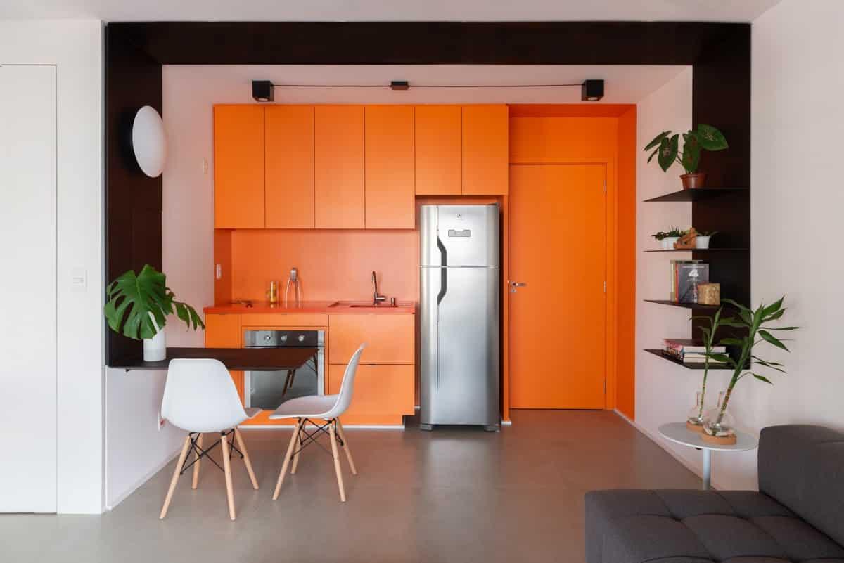 unnamed 1 1 - Projeto de apartamento pequeno, faz uso da integração