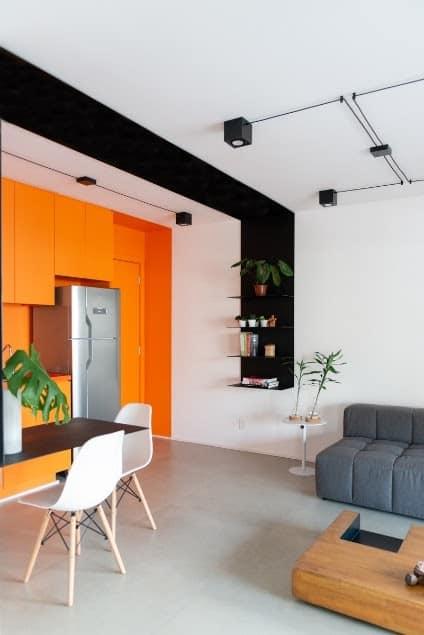 unnamed 2 1 - O apartamento de 46m² teve como meta a otimização dos espaços