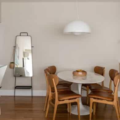 revistaSIM Arquitetura Apartamento Kim por Cota Arquitetura Destaque 390x390 - Confira um projeto de apartamento cheio de estilo e modernidade