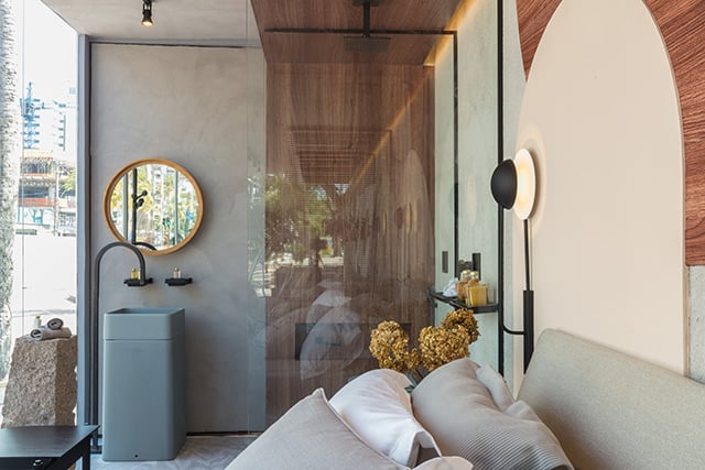 revistaSIM Arquitetura CasaCor 2020 Andre Caricio Suite HAUT Hotel 8 Credito PH Nunes - Suíte Haut Hotel, aposta na atmosfera rústica sofisticada