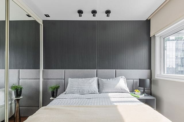revistaSIM Arquitetura Apartamento de 40m Quarto 1 Credito Guilherme Pucci - Apartamento de 40m² chama a atenção pelas soluções utilizadas