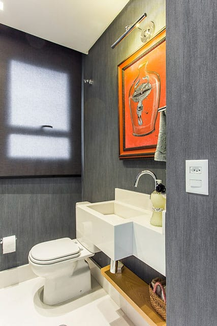 revistaSIM Arquitetura Figa Arquitetura Banheiro Credito Thiago Travesso - Confira o projeto de um apartamento contemporâneo e inspire-se!