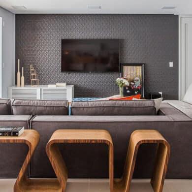revistaSIM Arquitetura Figa Arquitetura DESTAQUE Credito Thiago Travesso 390x390 - Confira o projeto de um apartamento contemporâneo e inspire-se!