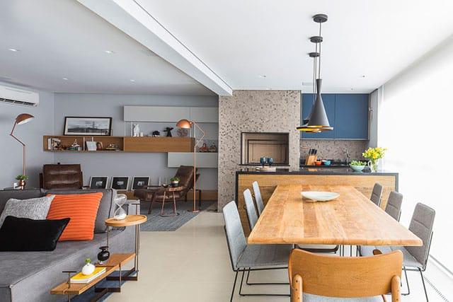 revistaSIM Arquitetura Figa Arquitetura Sala de jantar Credito Thiago Travesso - Confira o projeto de um apartamento contemporâneo e inspire-se!