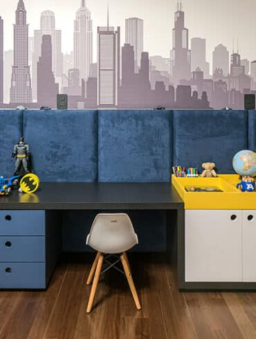 revistaSIM Arquitetura Volta as aulas DESTAQUE Foto Marcelo Stammer 370x490 - O ambiente de 85m² faz uso de décor elegante com foco na integração