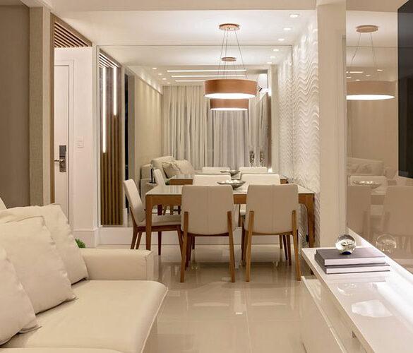 revistaSIM Arquitetura Apartamento 65 m2 DESTAQUE 585x500 - O ambiente de 85m² faz uso de décor elegante com foco na integração