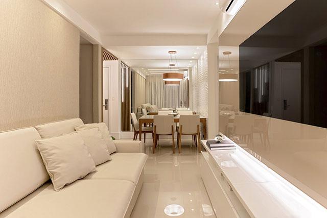 revistaSIM Arquitetura Apartamento 65 m2 Sala de estar - Confira o apartamento de 65m² que fez uso da funcionalidade