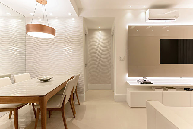 revistaSIM Arquitetura Apartamento 65 m2 Sala de jantar e sala de estar - Confira o apartamento de 65m² que fez uso da funcionalidade