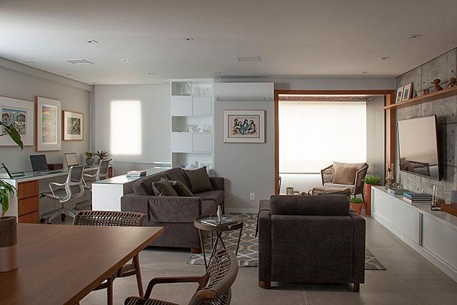revistaSIM Arquitetura Apt 85m2 Ambientes integrados Credito Luis Gomes - Projeto de apartamento de 85 m² aposta em soluções criativas