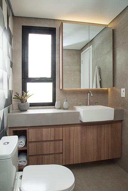 revistaSIM Arquitetura Apt 85m2 Banheiro do adolescente 2 Credito Luis Gomes - Projeto de apartamento de 85 m² aposta em soluções criativas