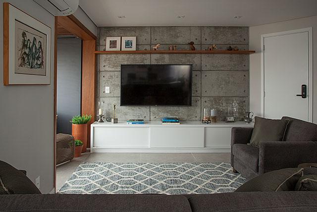 revistaSIM Arquitetura Apt 85m2 Sala de estar Credito Luis Gomes - Projeto de apartamento de 85 m² aposta em soluções criativas