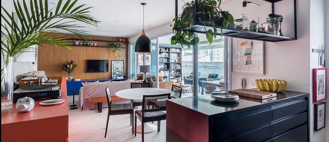 revistaSIM Arquitetura Estudio em Sao Paulo DESTAQUE Credito Nathalie Artaxo 1155x500 - Projeto de apartamento de 100m² priorizou a identidade do casal