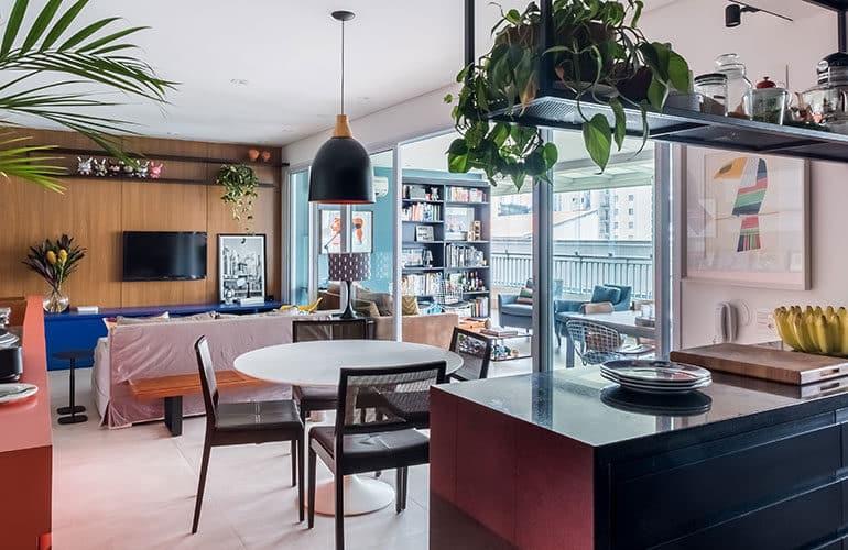 revistaSIM Arquitetura Estudio em Sao Paulo DESTAQUE Credito Nathalie Artaxo 770x500 - Projeto de apartamento de 100m² priorizou a identidade do casal