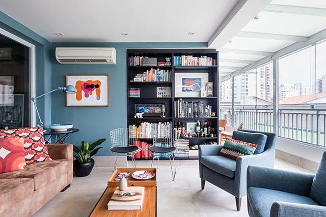 revistaSIM Arquitetura Estudio em Sao Paulo Sala de leitura 3 Credito Nathalie Artaxo - Projeto de apartamento de 100m² priorizou a identidade do casal