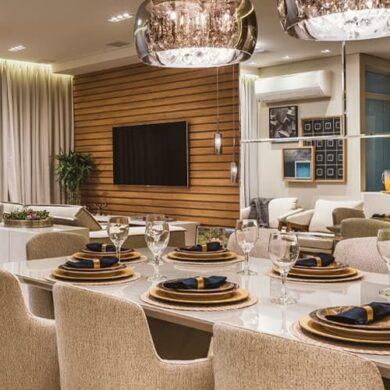 destaque revistaSIM HRC4850 390x390 - O ambiente de 85m² faz uso de décor elegante com foco na integração