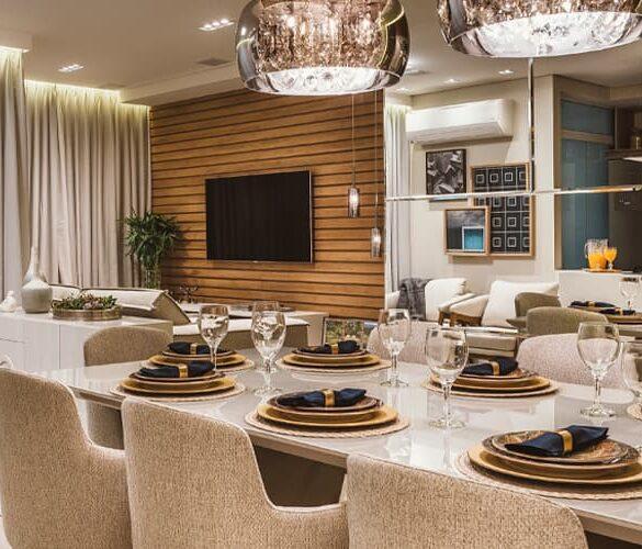 destaque revistaSIM HRC4850 585x500 - O ambiente de 85m² faz uso de décor elegante com foco na integração