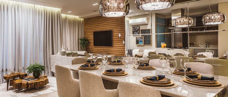 destaque revistaSIM HRC4850 - O ambiente de 85m² faz uso de décor elegante com foco na integração