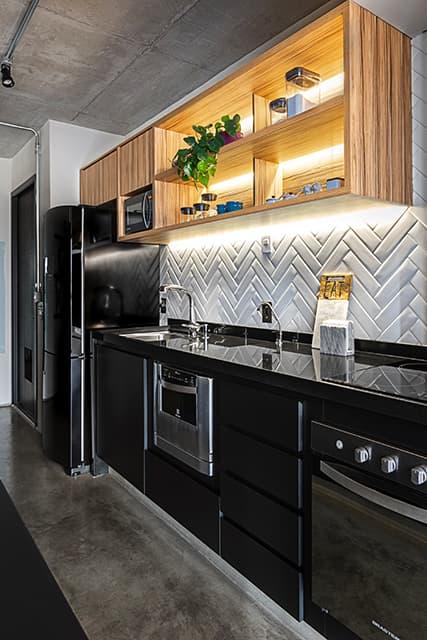 revistaSIM DSC0838 HDR - Um apartamento com toque industrial e integração eficiente