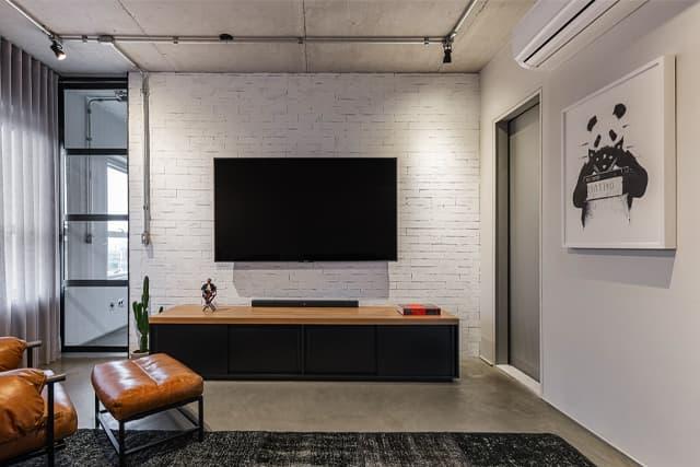 revistaSIM DSC0892 HDR - Um apartamento com toque industrial e integração eficiente