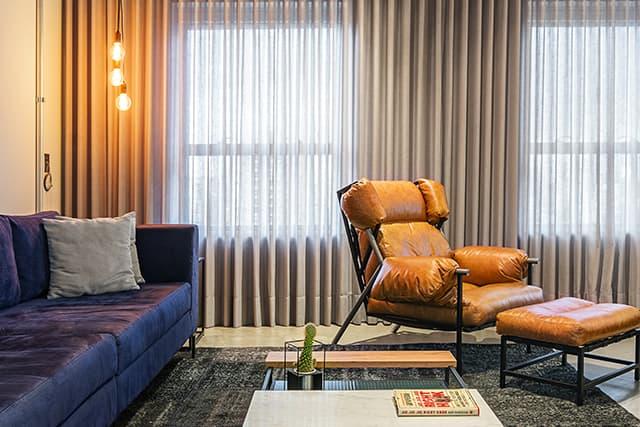 revistaSIM DSC0913 HDR - Um apartamento com toque industrial e integração eficiente