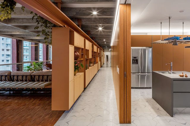 revistaSIM Arquitetura Apartamento AMRA7 Cozinha e sala - Confira a reforma do apto AMRA7, que fica no coração de São Paulo