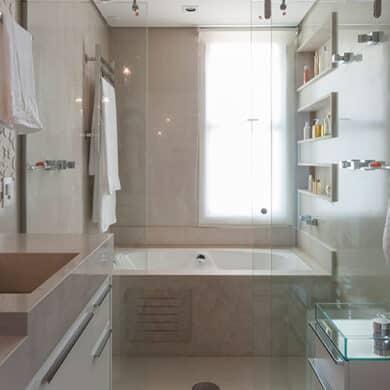 revistaSIM Arquitetura Banheiros DESTAQUE Credito Carlos Piratininga 390x390 - Confira as dicas de projetos de banheiros para você não errar