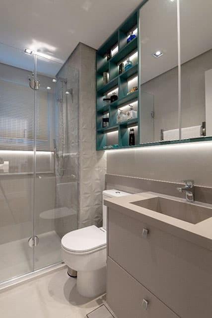 revistaSIM Arquitetura Banheiros Detalhes em verde Divulgacao - Confira as dicas de projetos de banheiros para você não errar