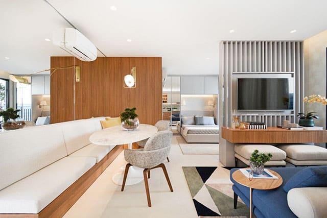 revistaSIM Arquitetura Loft 48m2 Credito Marcus Camargo - Com soluções práticas um loft de 48m² passa a ideia de amplitude