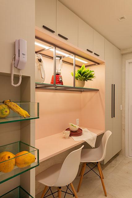 revistaSIM Decoracao Uso do tom rosa Cozinha Divulgacao - Confira os detalhes sobre o crescente uso do tom rosa nos ambientes
