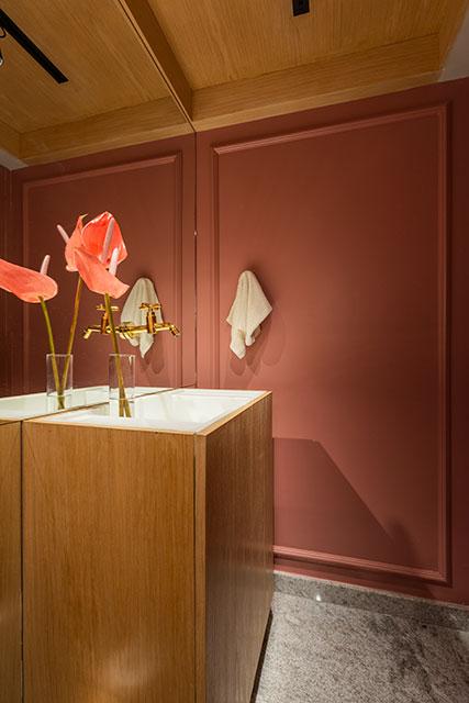 revistaSIM Decoracao Uso do tom rosa Detalhe Lavabo Divulgacao - Confira os detalhes sobre o crescente uso do tom rosa nos ambientes