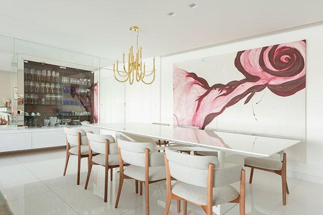 revistaSIM Decoracao Uso do tom rosa Sala de jantar 1 Divulgacao - Confira os detalhes sobre o crescente uso do tom rosa nos ambientes