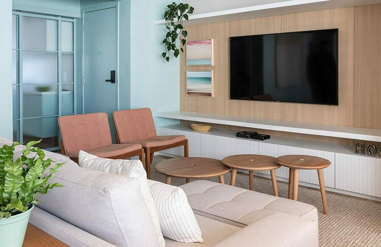 revistaSIM Arquitetura Cores Suaves DESTAQUE Credito Evelyn Muller 770x500 - Arquiteta investe em tons suaves para apartamento