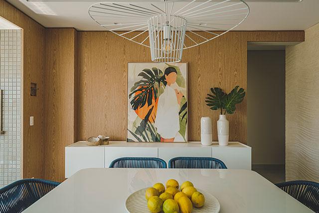 revistaSIM Arquitetura Apto 130m Mesa de jantar Foto Marcelo Stammer - Confira uma inspiração para decoração do apto de praia