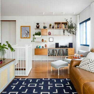 revistaSIM Arquitetura Projeto Duplex SP Studio DESTAQUE 2 Foto Nathalie Artaxo 390x390 - Um apartamento de 175m² ganhou espaços diferenciados